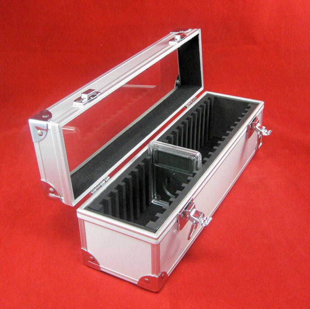 Aluminum certified coin slab storage box holds up to 20 for Money storage box