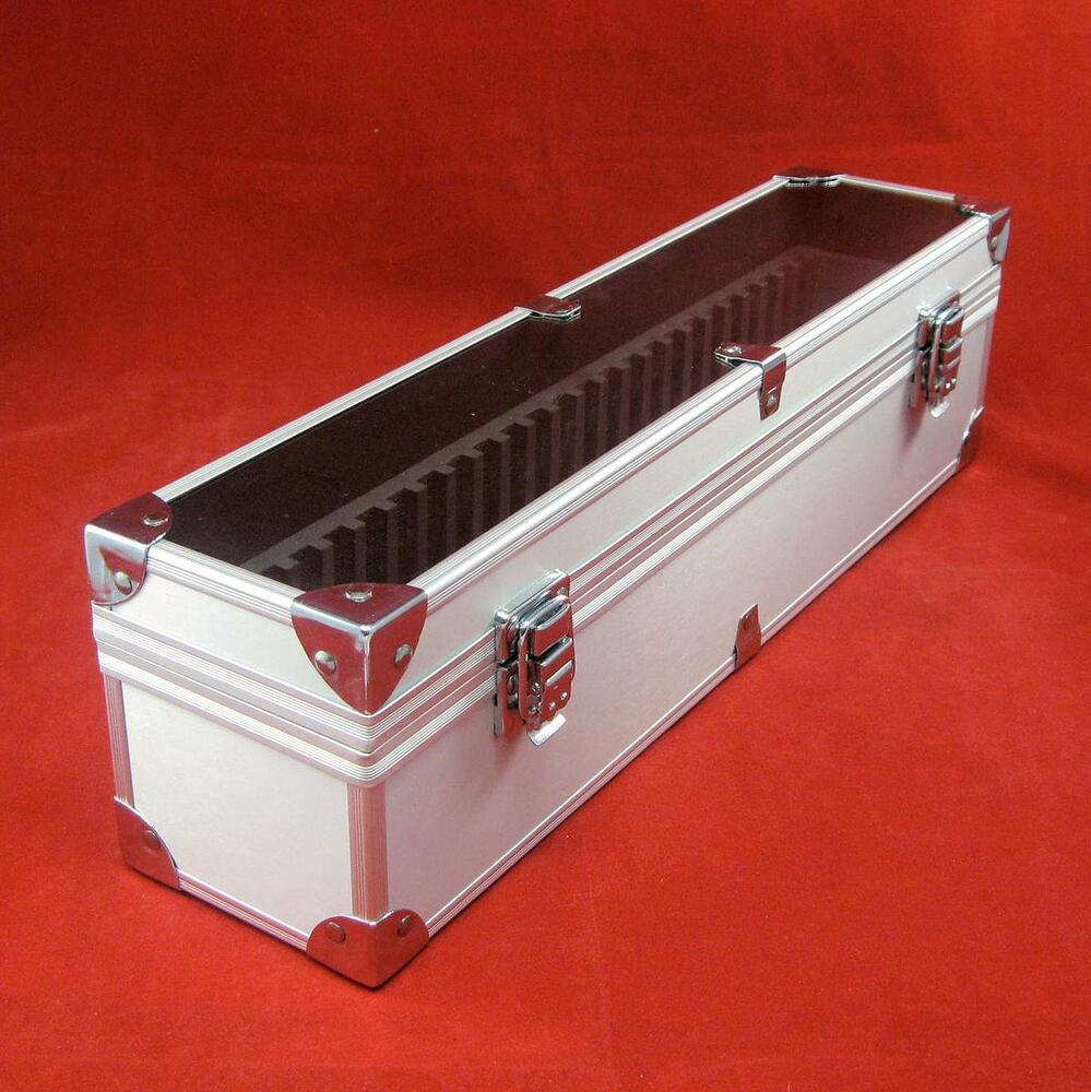 Aluminum certified coin slab storage box holds up to 25 for Money storage box