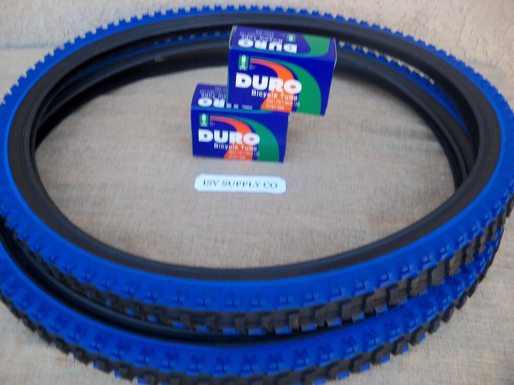 2 Bicycle Tyres Bike Tires Mountain bike With Schrader Tubes 24 x 1.95
