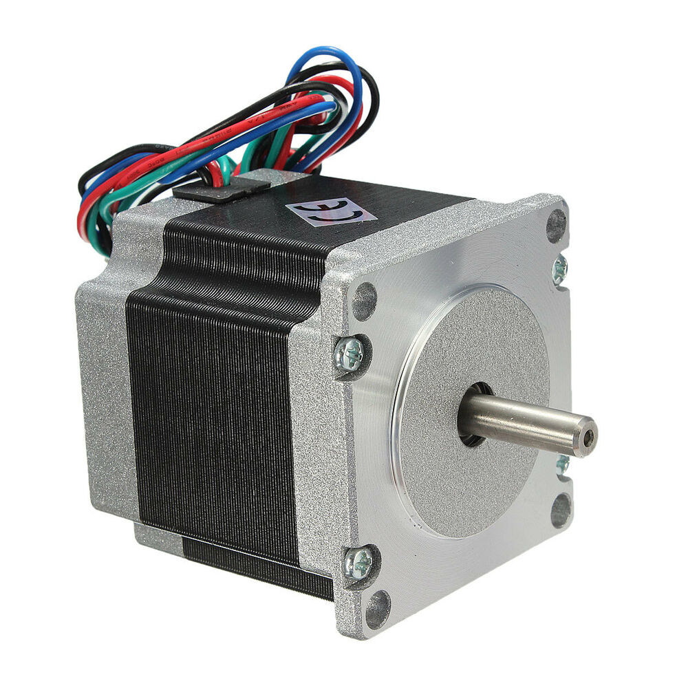 24v nema 23 stepper motor single shaft 12 6kg cm 1 8degree