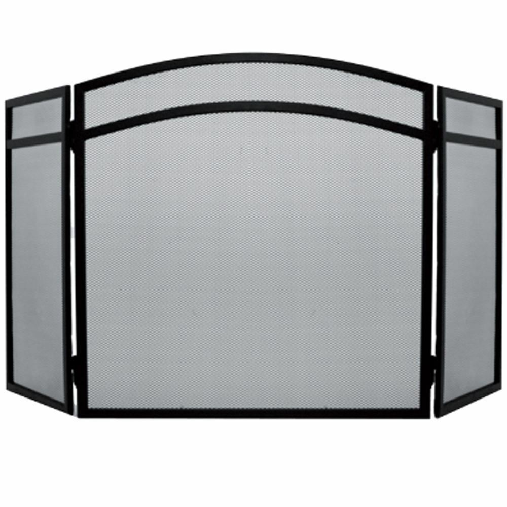 Fire Screen Arched Black Spark Guard Fireplace Fireside