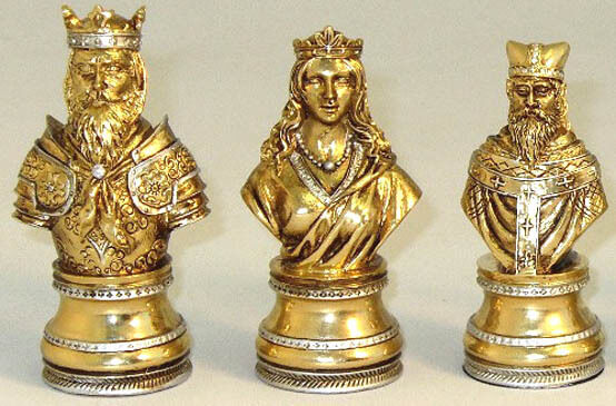 Ornate pewter renaissance chess men fine set k 3 ww pc8552 ebay - Ornate chess sets ...