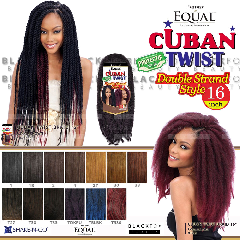 Freetress Equal Cuban Twist Braid Double Strand Style 16