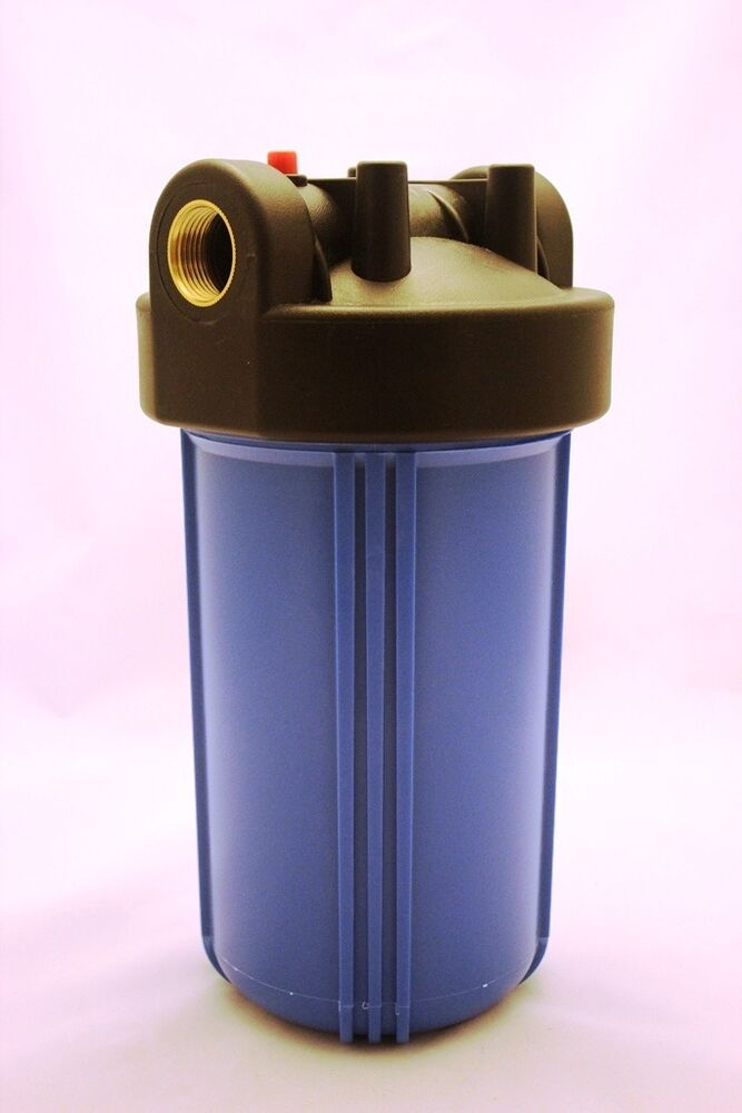 """Big Blue 10"""" Whole House Water Filter System (1 Inch Port"""