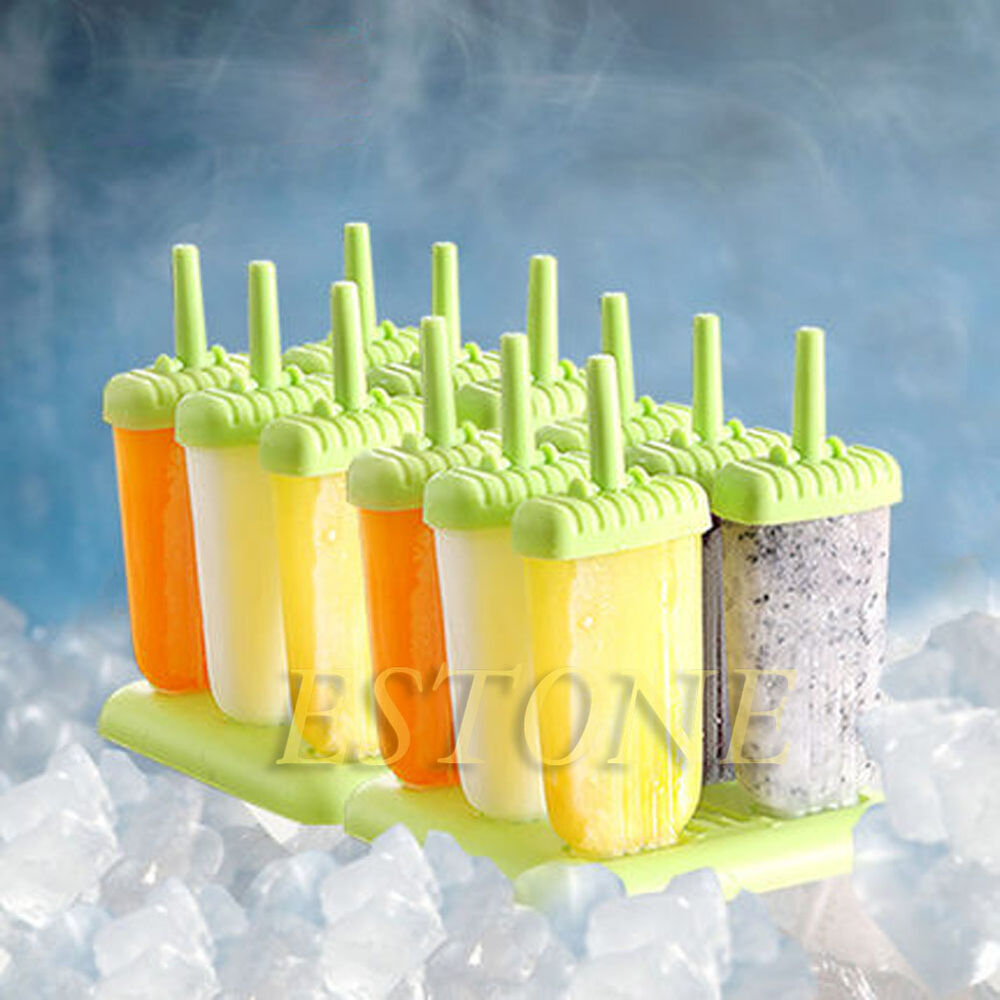 6 Cell Set Ice Candy Popsicle Stick Maker Frozen Clear Ice