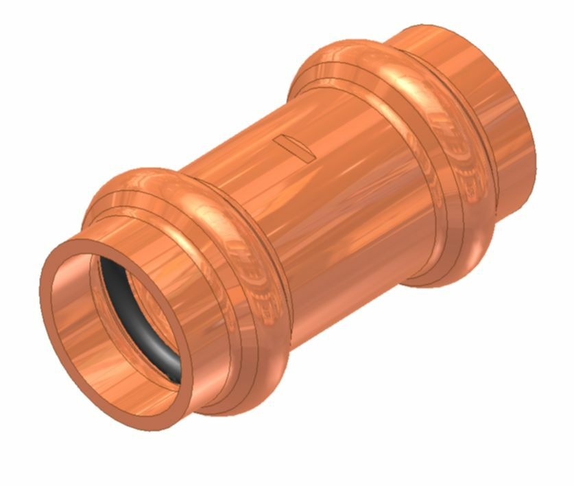 Quot apolloxpress copper fitting tube coupling with