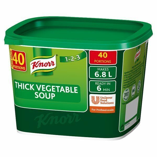 Knorr Thick Vegetable Soup 1 x 40 Portions | eBay
