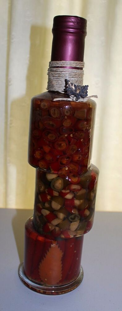Vinegar Infused Peppers And Garlic Decorative Kitchen