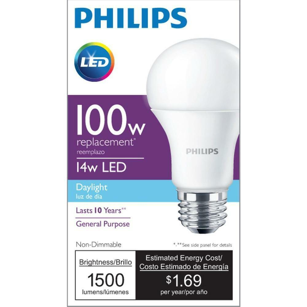 philips led 100w equivalent light bulb free shipping ebay. Black Bedroom Furniture Sets. Home Design Ideas