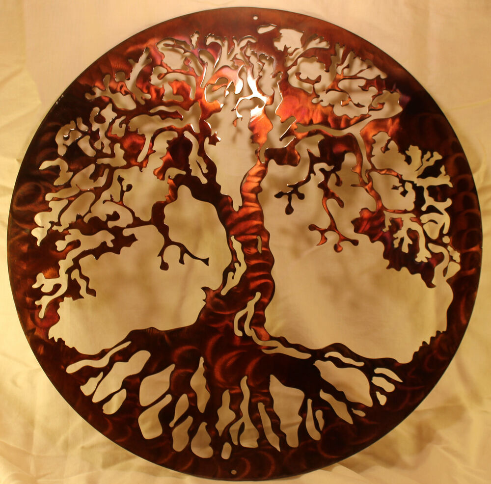 20 Quot Tree Of Life Silhouette Metal Wall Art Home Decor Ebay