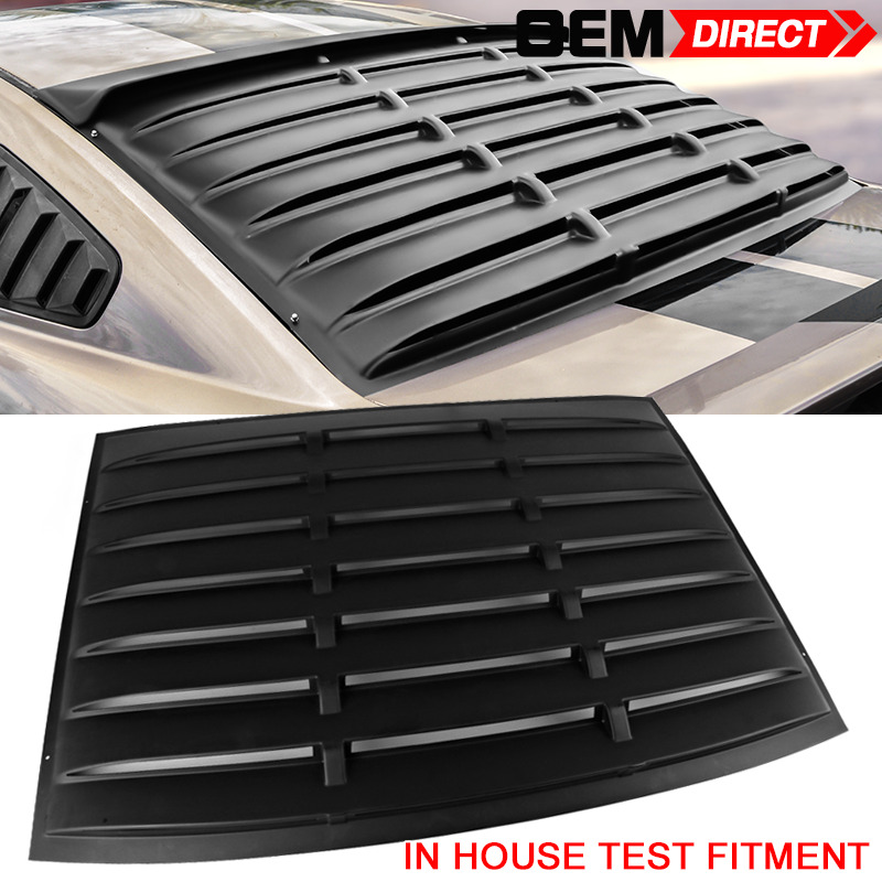 Fit for 05 14 ford mustang rear window louver matte black for 05 mustang rear window louvers
