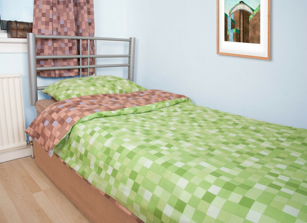 Pixel Duvet Cover With Pillow Case Bedding Set Inspired