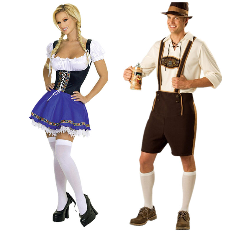 bavarian man wench oktoberfest fancy dress lederhosen. Black Bedroom Furniture Sets. Home Design Ideas