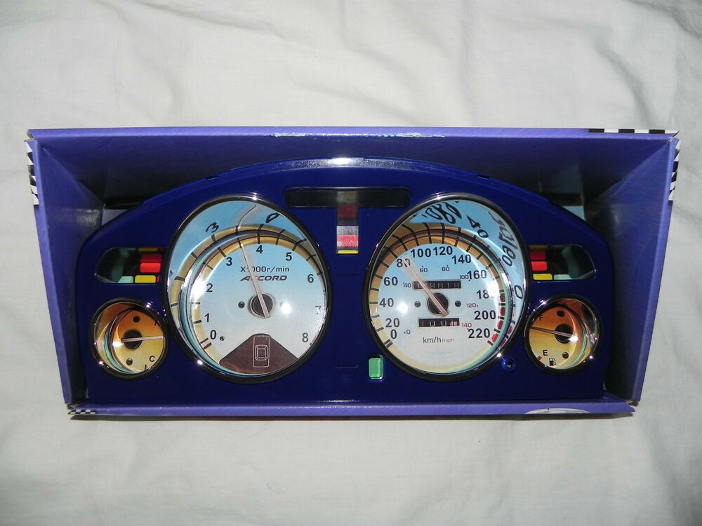 honda accord manual euro dash eurodash gauges cover cluster bezel blue ebay