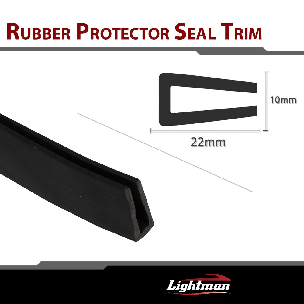 1ft Rubber Edge Trim U Channel Weather Strip Car Truck Rv