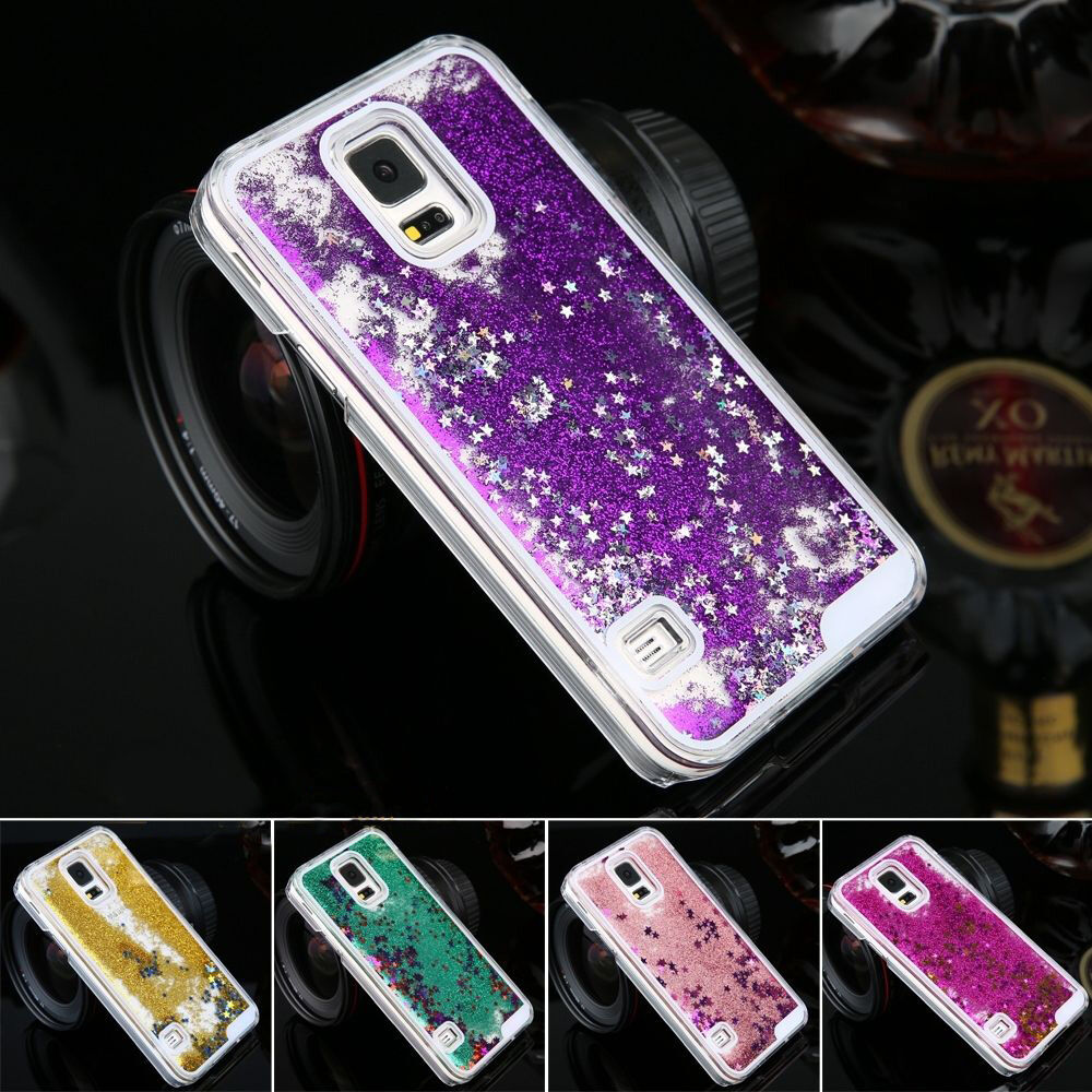 Luxury Glitter Star Liquid Back Phone Case Cover for Samsung Galaxy ...