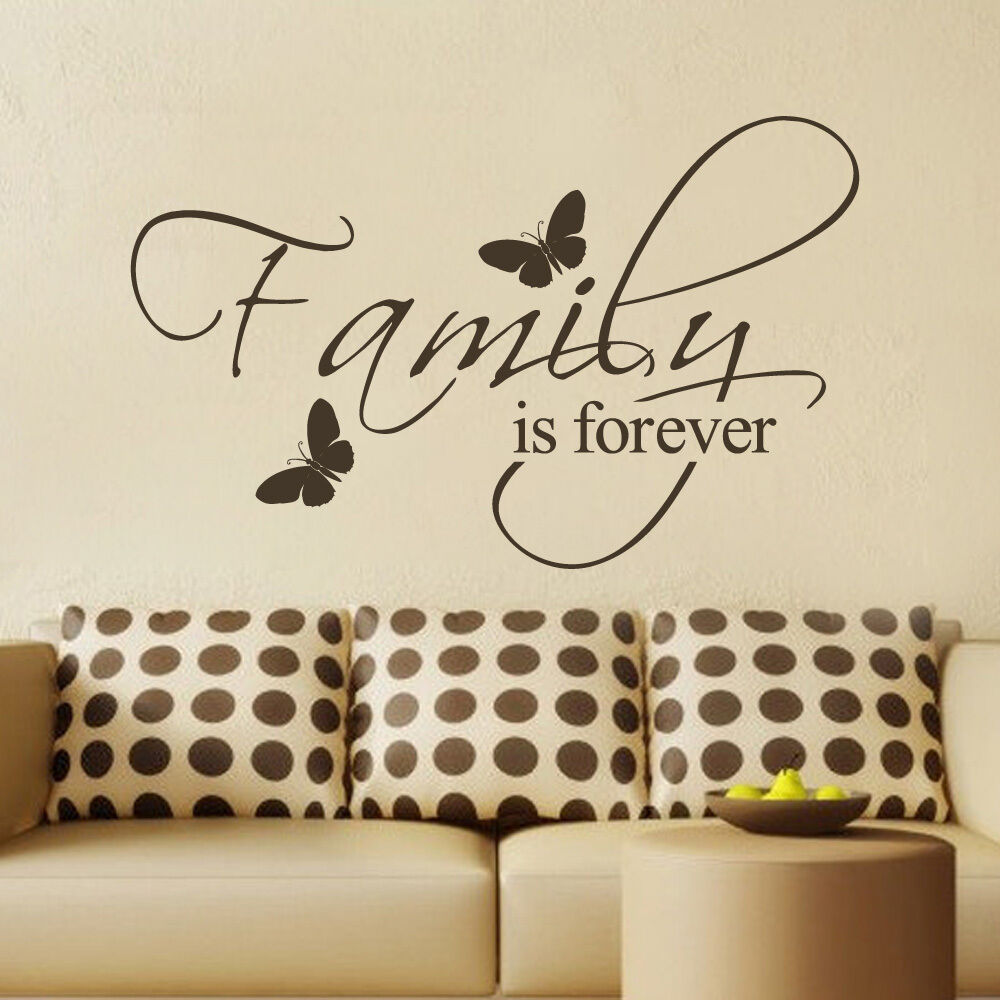 Inspirational Wall Decal Family Is Forever Quote Vinyl