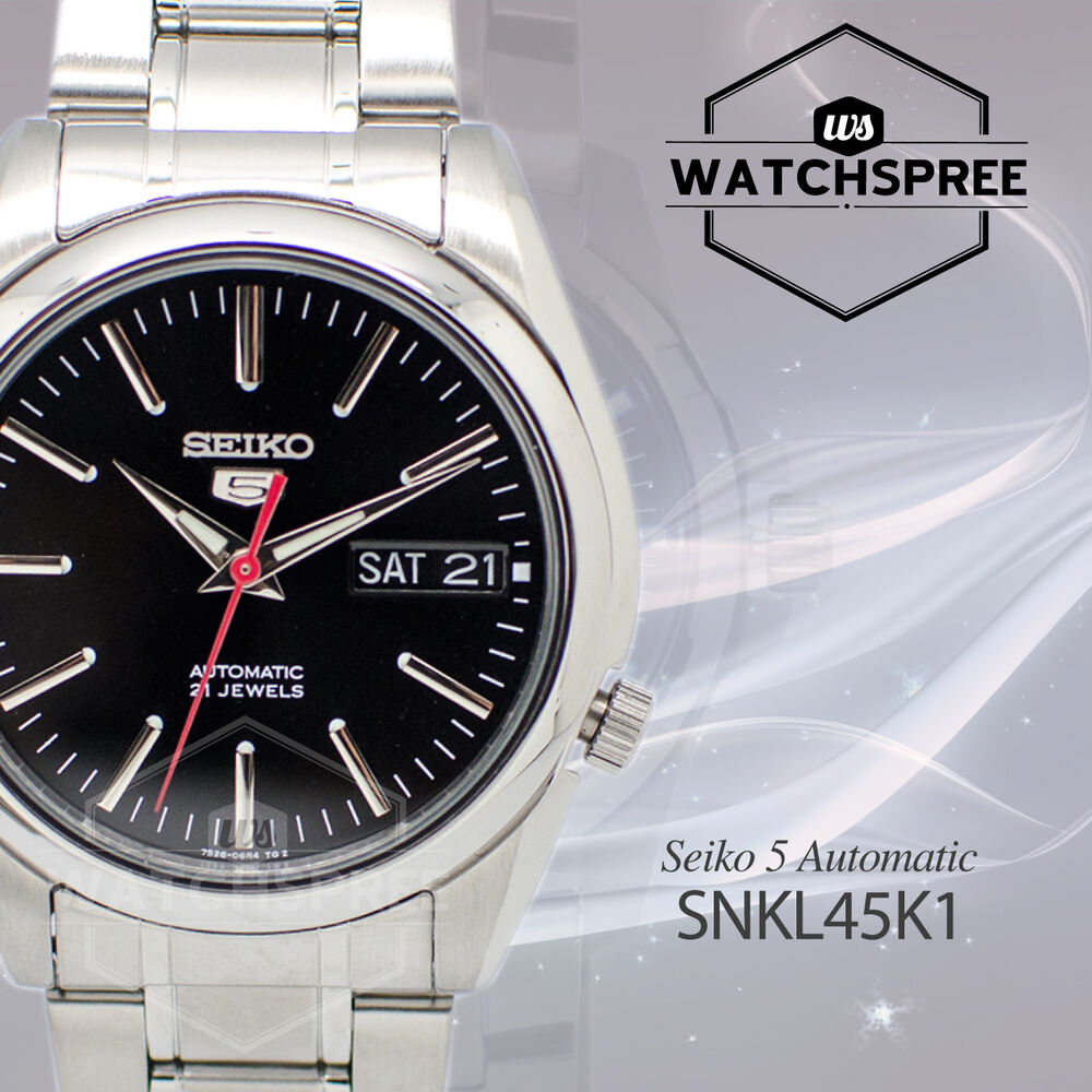 Seiko 5 automatic watch snkl45k1 ebay for Watches on ebay