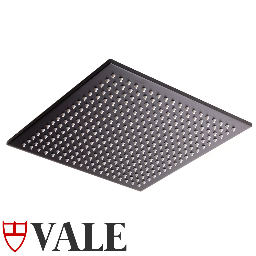 Bathroom 300mm square rain shower head matte black ebay for Childrens shower head