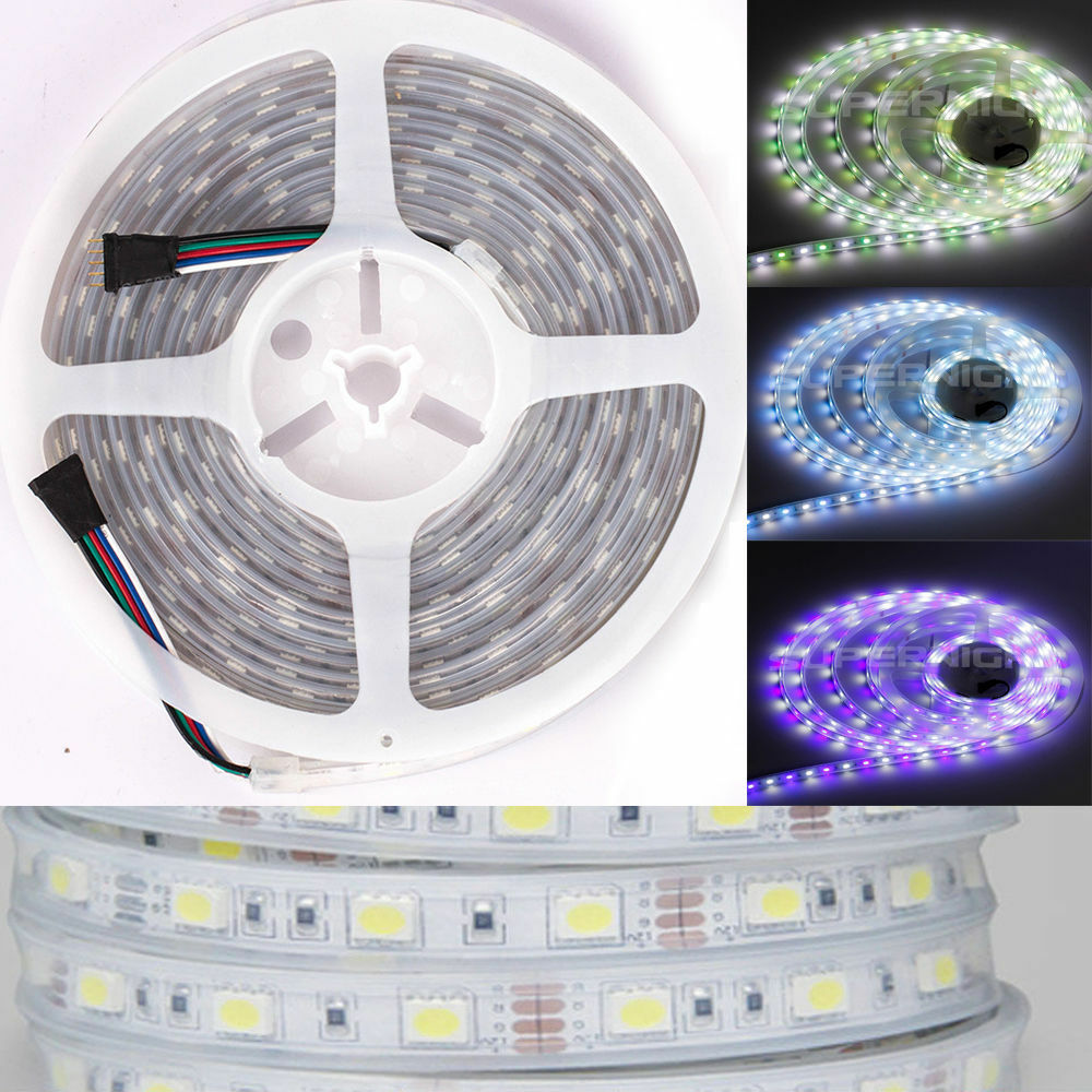 Outdoor Rgbw Led Strip Lights: RGB+Cool White RGBW Silicone Cover IP67 Waterproof 5M 300