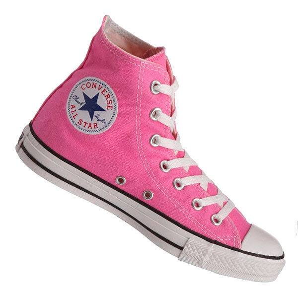 5cb96b9d338d Details about Converse Hi Top All Star Chuck Taylor Pink White Mens Womens  Shoes All Sizes