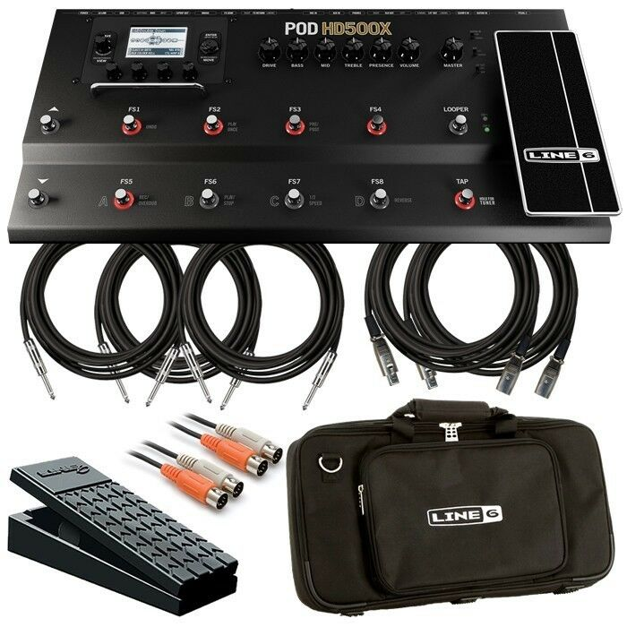 line 6 pod hd500x multi effect floorboard complete stage bundle ebay. Black Bedroom Furniture Sets. Home Design Ideas