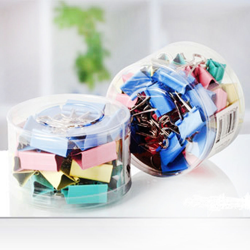 6PCS Beautiful Colorful Metal Binder Clips Paper Clip