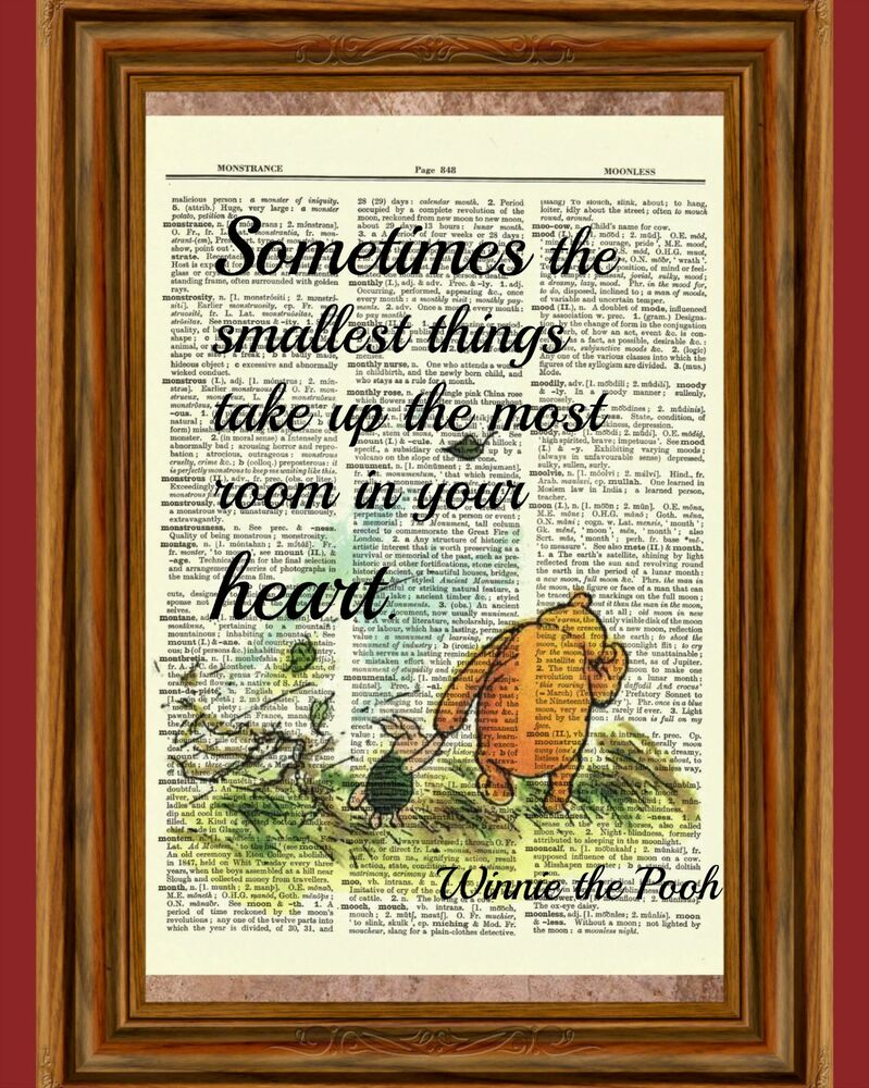 winnie the pooh dictionary art print picture poster classic piglet vintage ebay. Black Bedroom Furniture Sets. Home Design Ideas