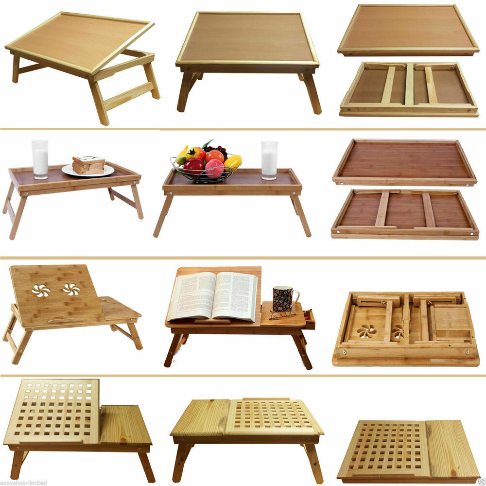 Large Wooden Coffee Table Tray: DELUXE LARGE MEDIUM WOODEN BAMBOO LAPTOP TRAY TABLE DESK