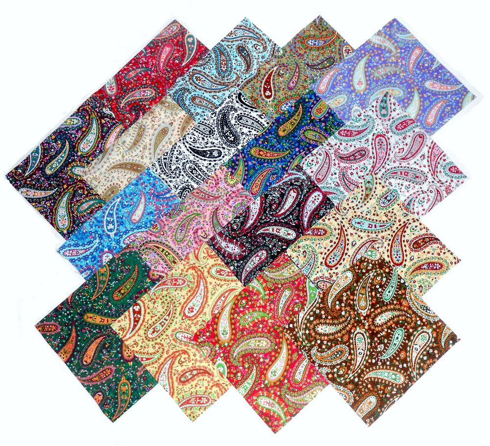 17 10 Quot Quilting Fabric Layer Cake Squares Perfect Paisley