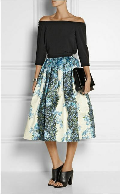 f2a62acea6 Details about NWT Tibi Sidewalk Floral Silk Midi Skirt (Size 0) $750 SOLD  OUT!!
