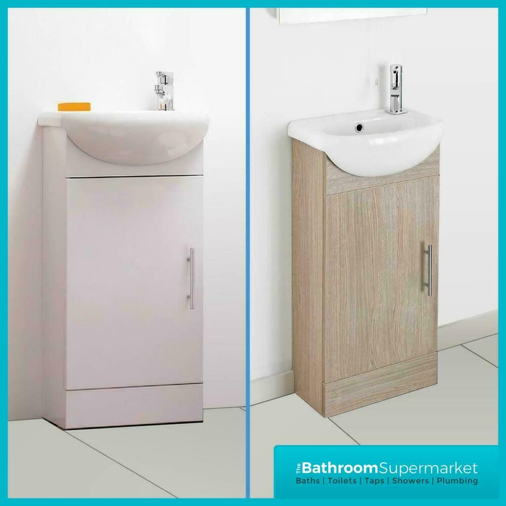 bathroom sink units free standing compact bathroom vanity unit amp basin sink cloakroom floor 22356