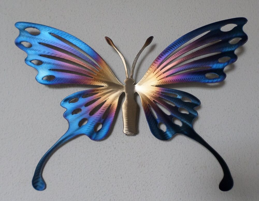hand made metal butterfly wall art home decor garden nature sculpture ebay. Black Bedroom Furniture Sets. Home Design Ideas