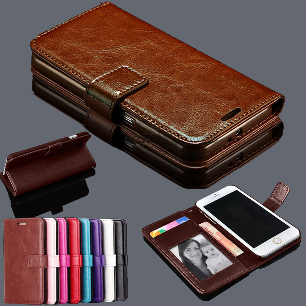Luxury Magnetic PU Leather Card Slot Flip Wallet Stand