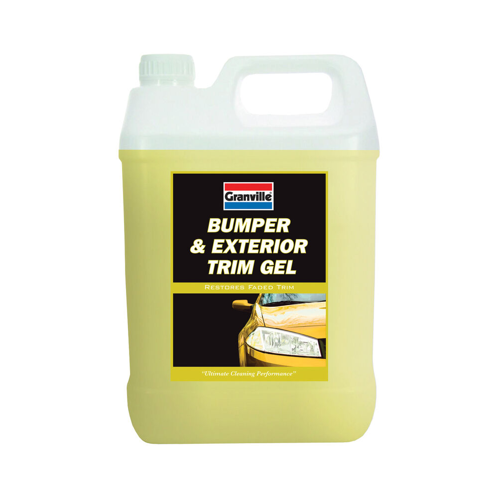 granville exterior bumper plastic trim cleaner restorer gel polish wax 5 litres ebay. Black Bedroom Furniture Sets. Home Design Ideas