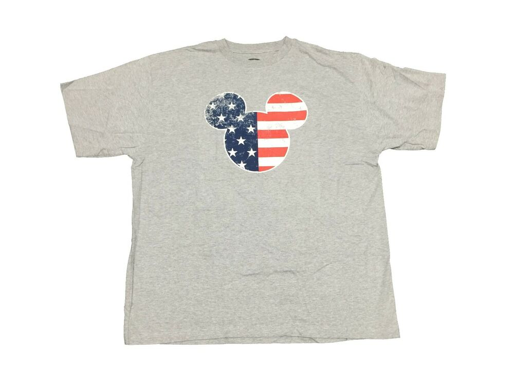 Disney Mickey Mouse Patriotic Ears American Flag T Shirt
