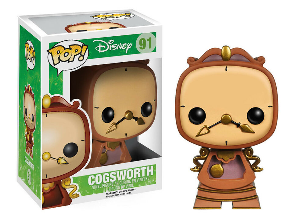 funko pop disney die sch ne und das biest cogsworth pop vinyl figur neu ebay. Black Bedroom Furniture Sets. Home Design Ideas