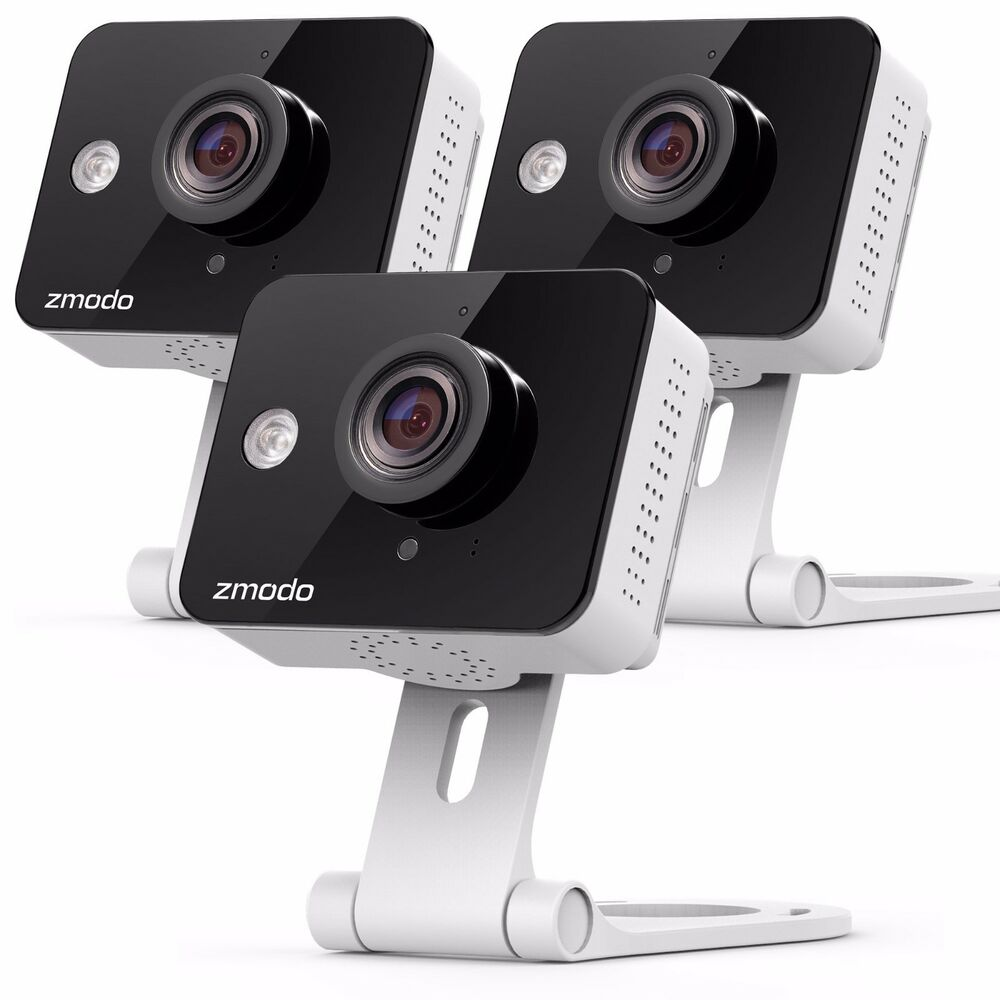 3 pack of zmodo 720p ip indoor wifi security cam 2 way. Black Bedroom Furniture Sets. Home Design Ideas
