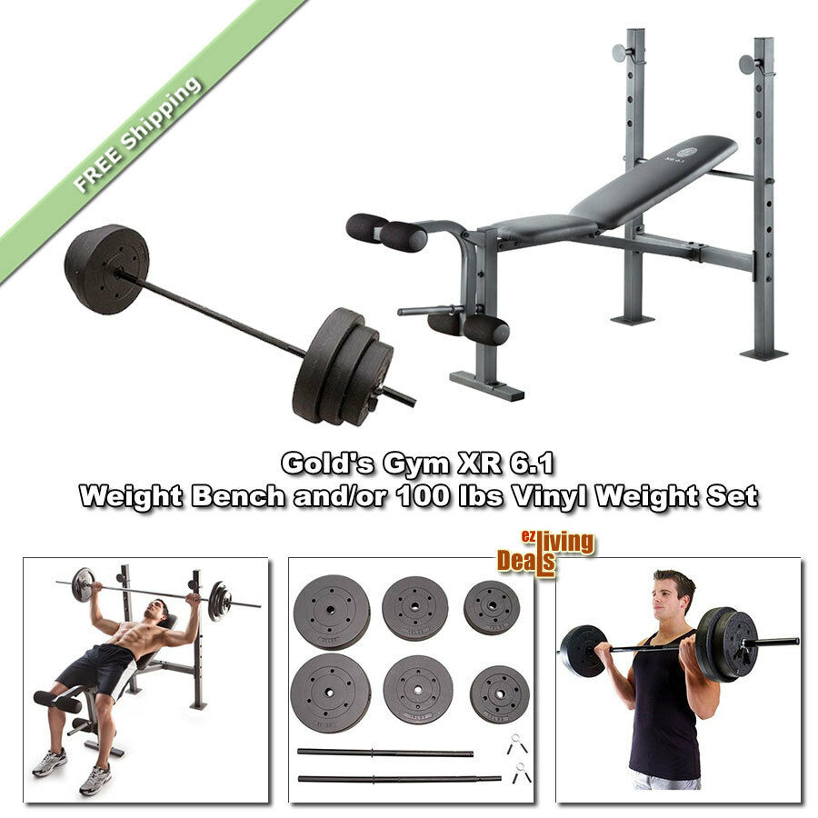 Gold S Weight Rack: Gold Gym Bench XR6.1 Golds Weightlifting Benches With/or
