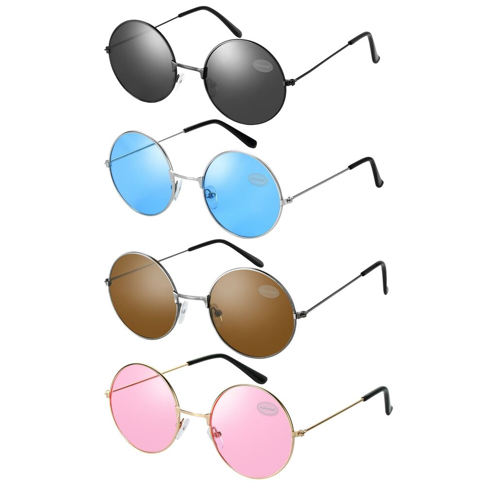 john lennon style round sunglasses many colours ebay. Black Bedroom Furniture Sets. Home Design Ideas