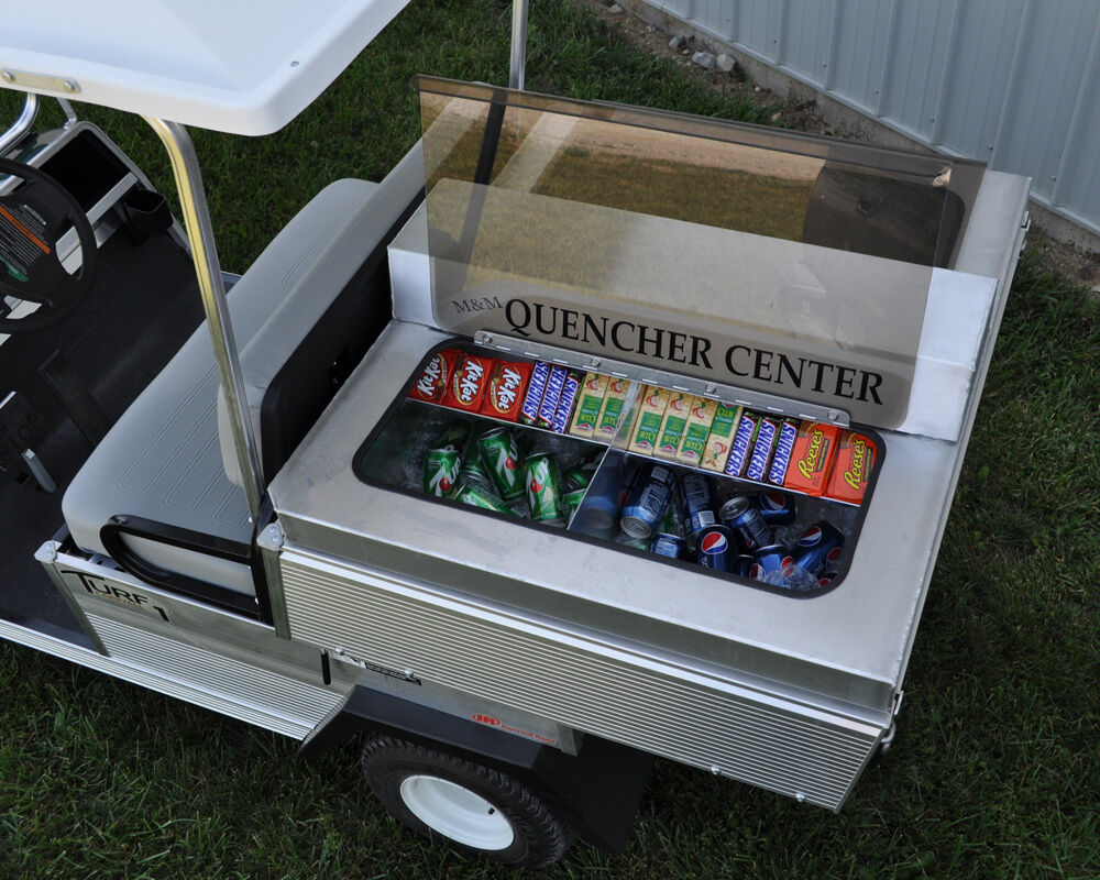 Refreshment concession center for club car carryall 2 golf for 2 1 2 box auto