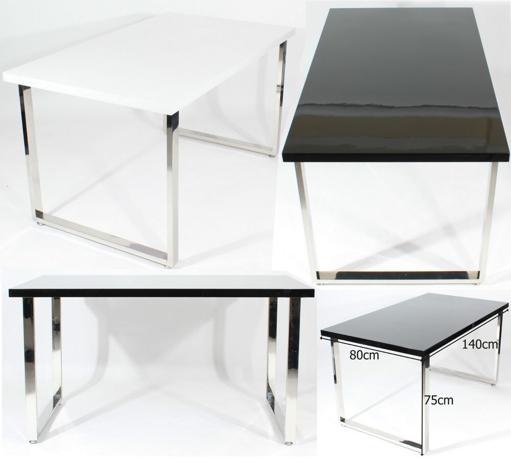 Large Dining Table Home Furniture Office Desk Set Black White Charles Jacobs Ebay