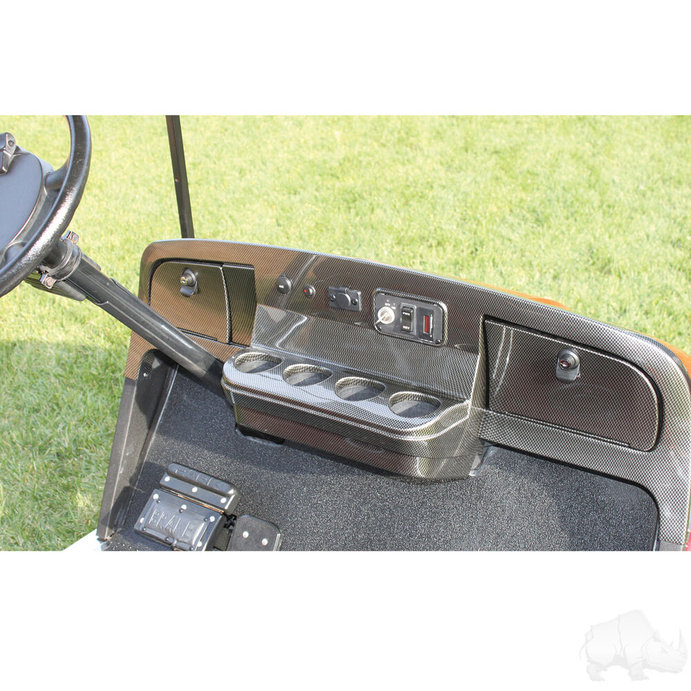 One Person Golf Cart >> EZGO TXT Golf Cart Car Dash Board Cover Carbon Fiber - Fast Shipping - 1994-13 | eBay