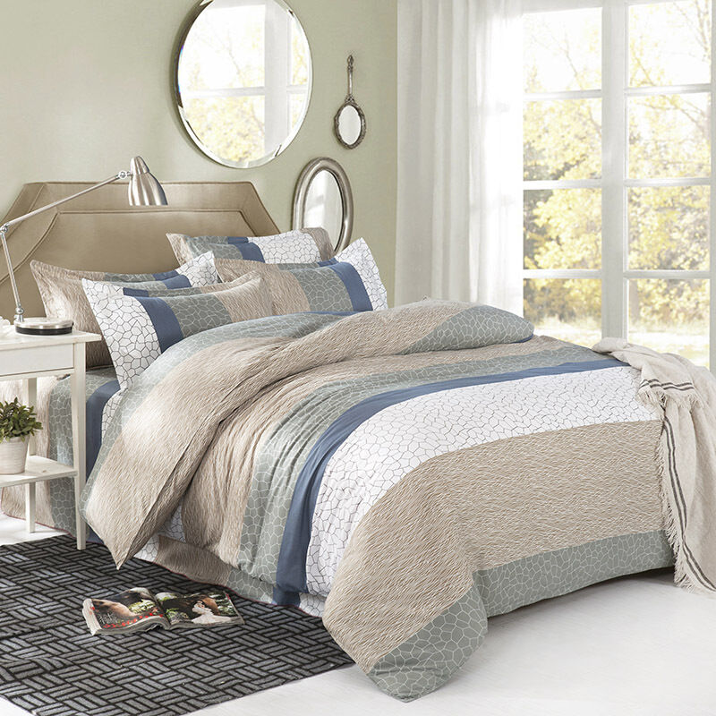 Marble Grey Single Double Queen King Size Bed Set
