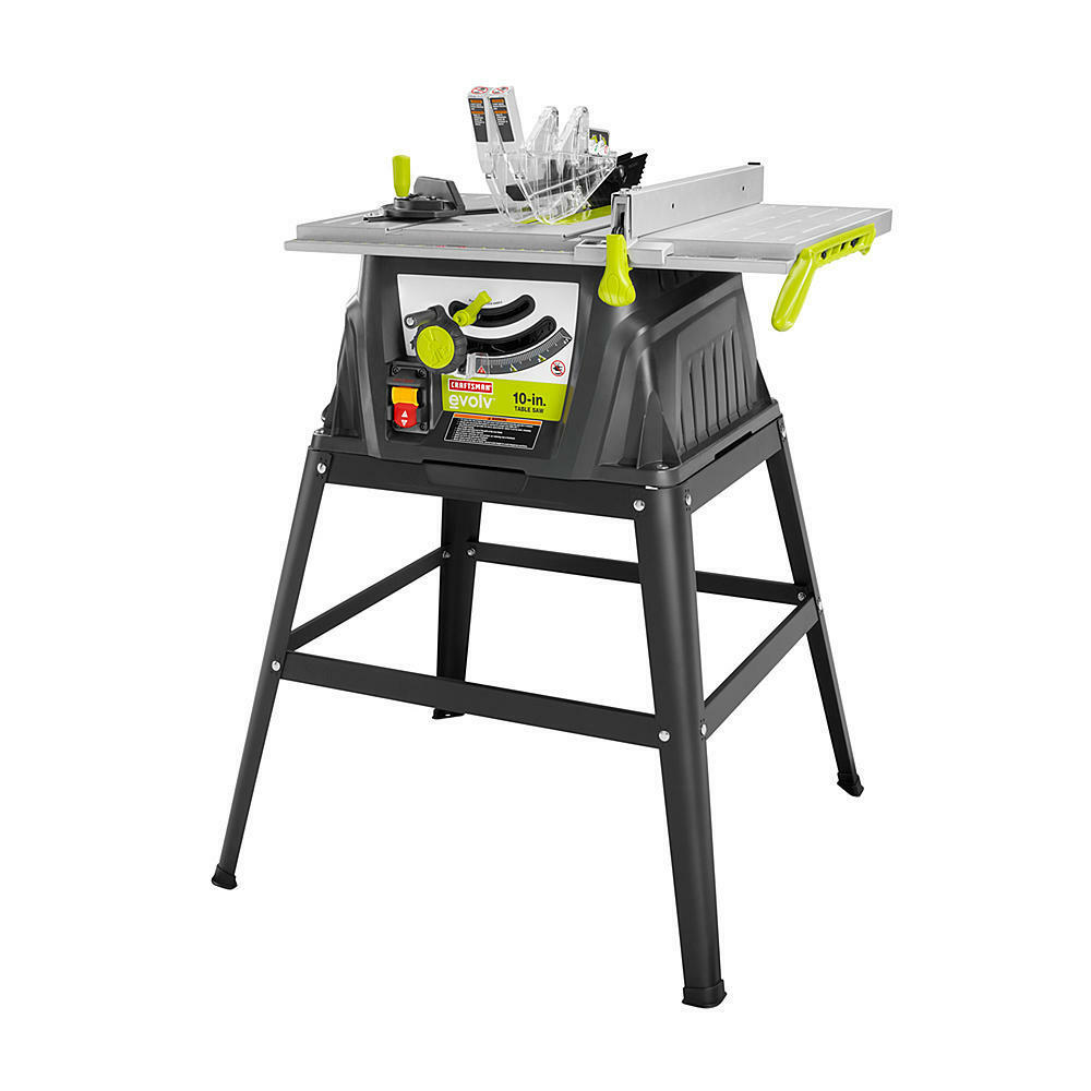 Craftsman Evolv 10 Inch 15 Amp Table Saw Stand Accessories Woodworking Shop Ebay