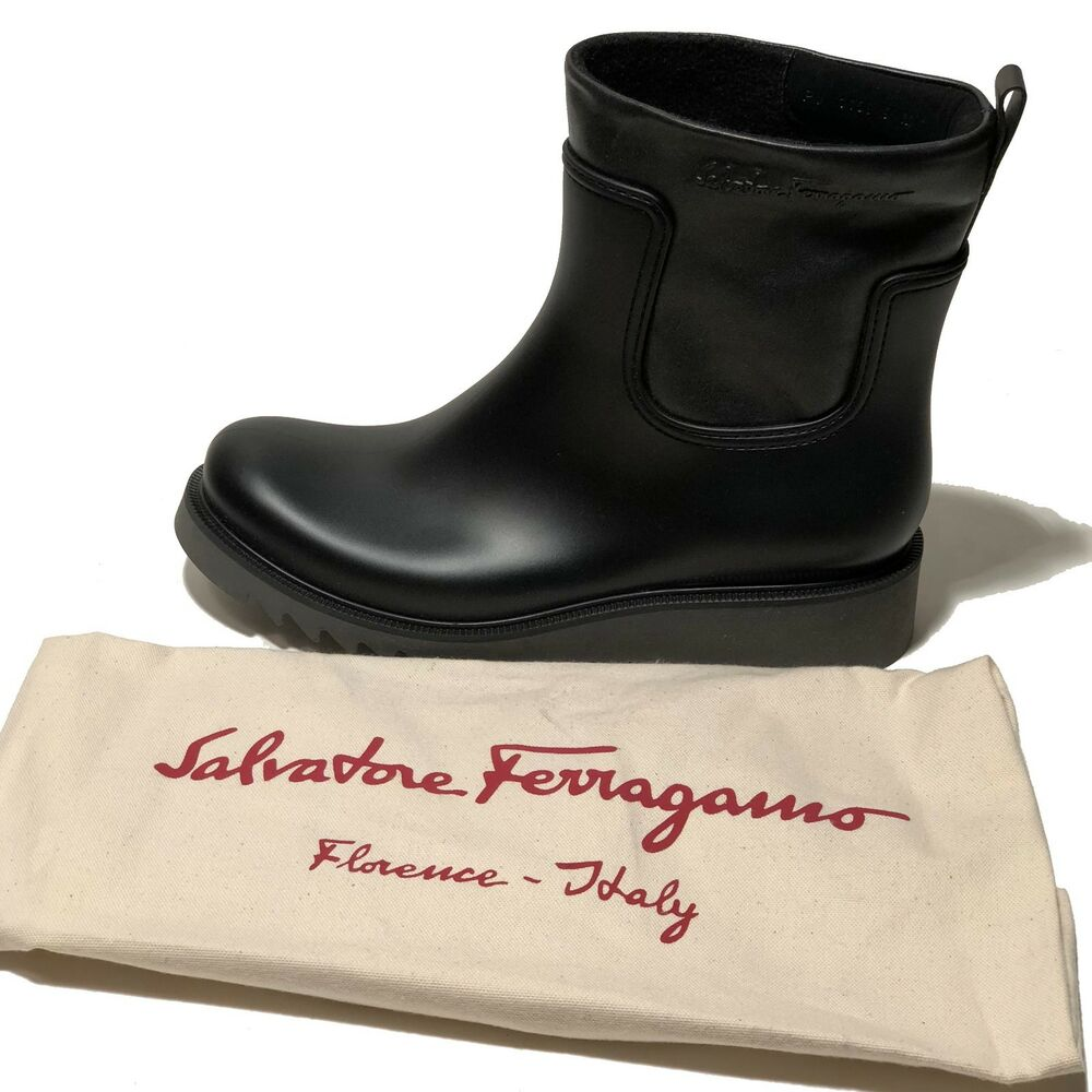 new ferragamo mens aritz black dress leather ankle fashion