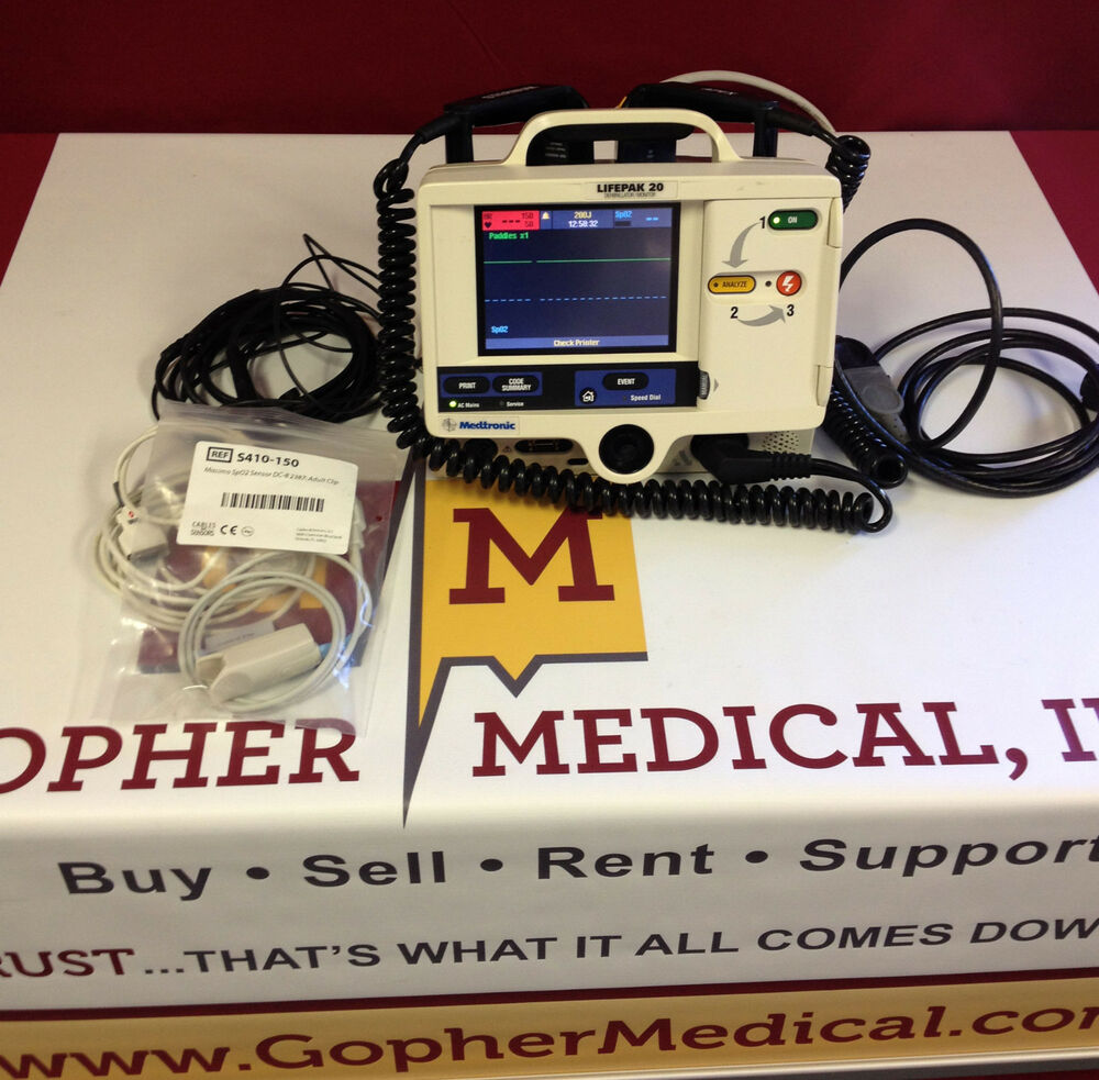 physio control lifepak 20 sp02 amp pacing patient monitor w