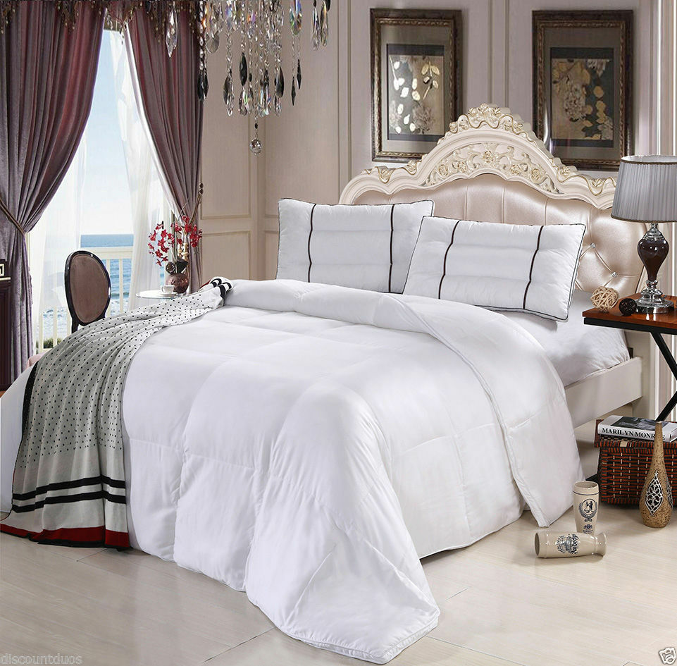 royal hotel collection 100 rayon from bamboo down alternative comforter white ebay. Black Bedroom Furniture Sets. Home Design Ideas
