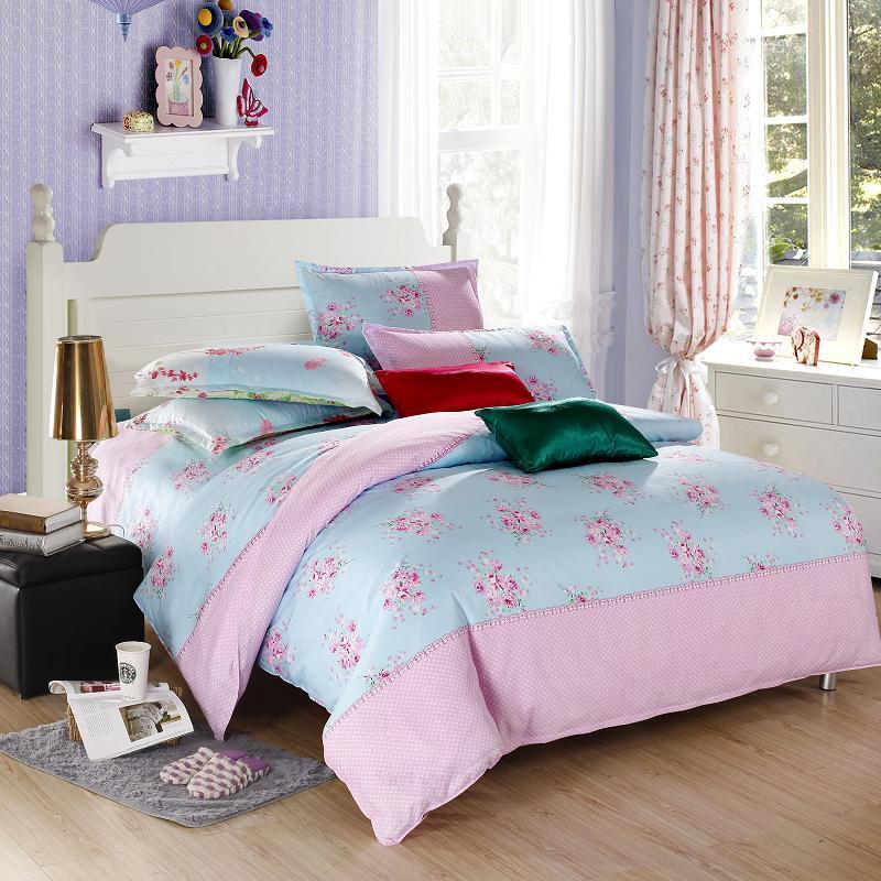 flower pink single double queen king size bed set pillowcase quilt duvet cover ebay. Black Bedroom Furniture Sets. Home Design Ideas