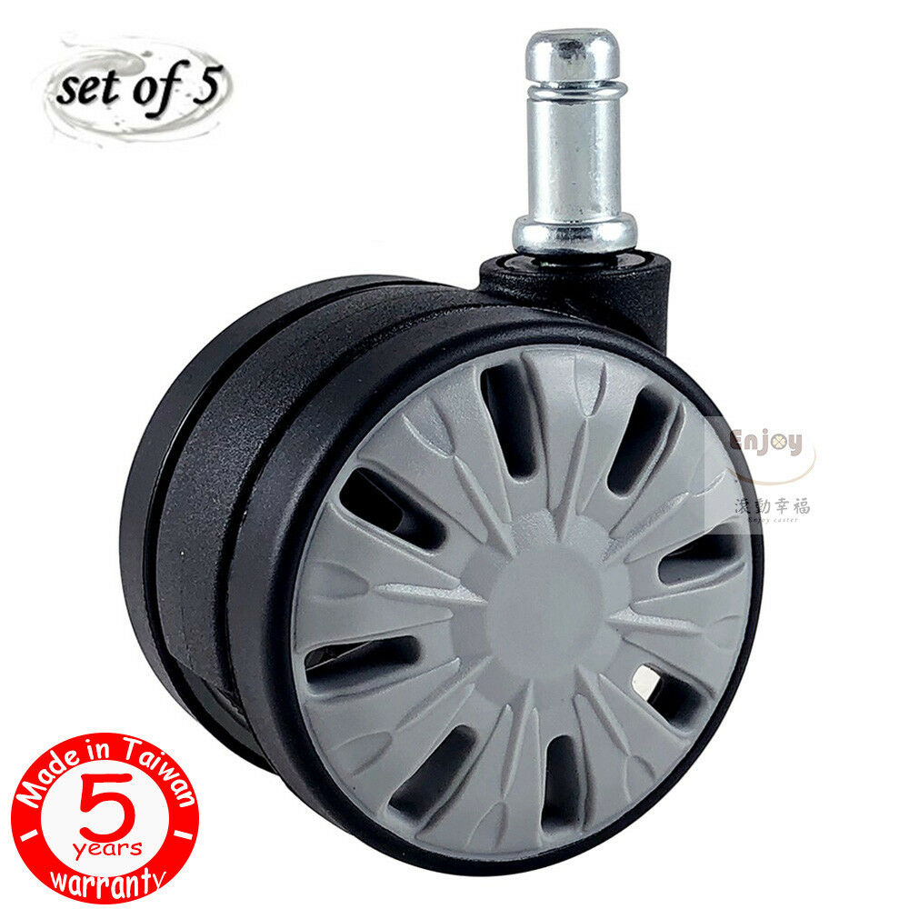 5pcs Office Chair Caster Twin Swivel Wheel Durable Replacement For Herman Mil